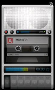 Tape Recorder - диктофон для Windows Phone 7