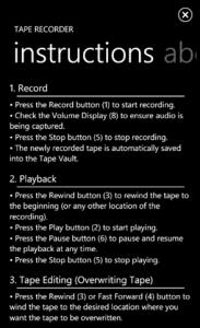 Tape Recorder - инструкция
