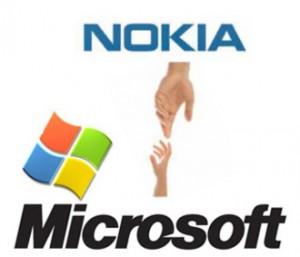 Логотипы Nokia и Microsoft