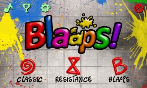 Основное меню игры Blaaps!