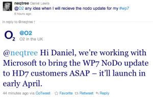 o2: NoDo в начале апреля