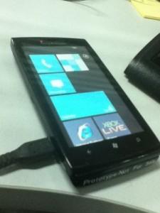 Телефон Sony Ericsson с Windows Phone 7