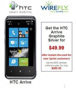 Предзаказ HTC Arrive на Wirefly