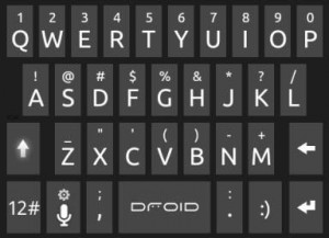WP7 клавиатура для Android
