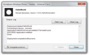 Сторонний маркет приложений для WP7 с XAP-установщиком и собственным протоколом