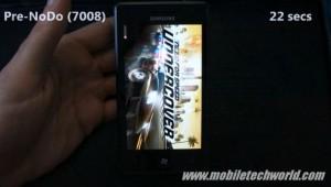 Скорость запуска игр на Samsung Omnia 7 с NoDo