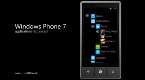 Концепция списка программ для Windows Phone 7