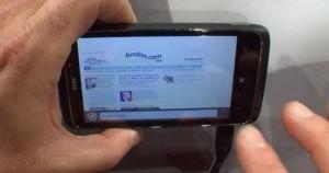 IE9 Mobile в ландшафтном режиме