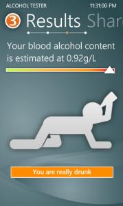 Обзор приложения AlcooloTest