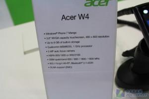 Характеристики Acer W4