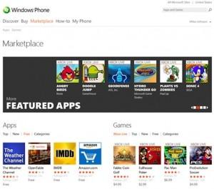 Microsoft собирается запустить веб-версию Windows Phone Marketplace