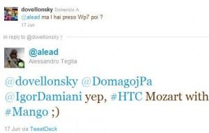 Mango протестирован на HTC Mozart