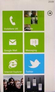 Домашний экран HTC 7 trophy