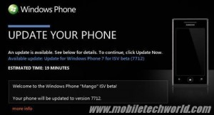 Windows Phone Mango билд 7712