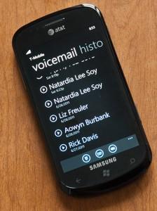 Голосовая почта в Windows Phone Mango