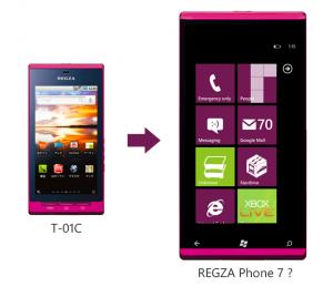 Fujitsu WP7 и Fujitsu Regza T-01C на Android