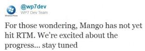 Mango пока не получила статус RTM
