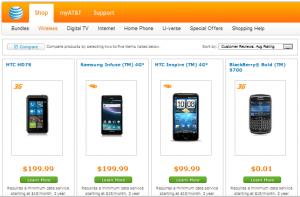 Топовые смартфоны от AT&T