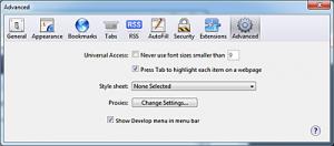 Advanced - Show Develop menu in menu bar