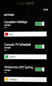 Календари на Windows Phone