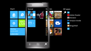 Панорамная домашняя страница Windows Phone