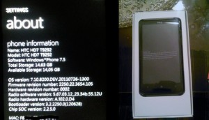 HTC HD7 с Windows Phone Tango