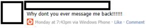 Новый логотип Windows Phone 7 теперь появился и в комментариях на Facebook