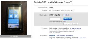 Toshiba TG01 на eBay