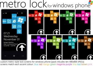 Обои для режима блокировки Windows Phone в стиле Metro