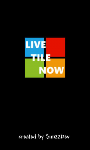 Live Tile Now