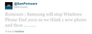 По слухам, Samsung перестанет выпускать WP7-смартфоны
