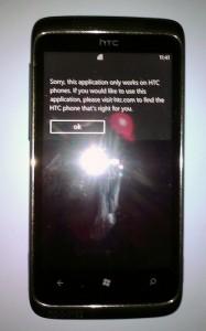 Ошибка в HTC Maaza