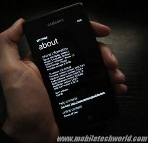 Windows Phone Mango на Samsung Omnia 7