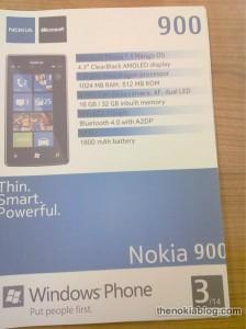 Характеристики Nokia 900