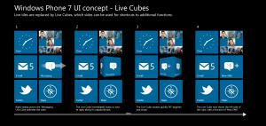 Концепт-дизайн живых кубиков для Windows Phone 7