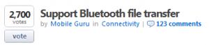 Пользователи Windows Phone просят добавить поддержку передачи файлов по Bluetooth