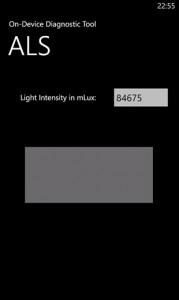 Тестирование светового датчика