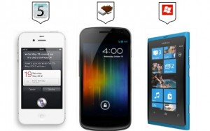Сравнение iPhone 4S, Samsung Galaxy Nexus и Nokia Lumia 800