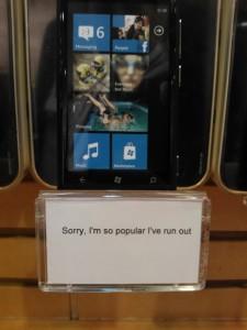 В некоторых магазинах Orange закончились смартфоны Nokia Lumia 800