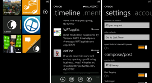 Carbon для Windows Phone