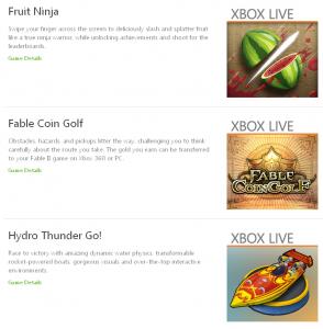 Новогодние скидки на Fruit Ninja, Fable Coin Golf и Hydro Thunder Go!