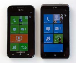 HTC Titan и Samsung Focus S