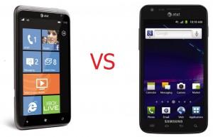 Сравнение HTC Titan и Samsung Galaxy S II Skyrocket
