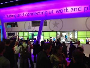 Стенд Microsoft на выставке CES 2012