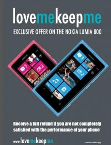 Love Me, Keep Me - новая пиар-компания Nokia Lumia 800