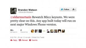 Microsoft: существующие приложения будут работать на Windows Phone 8