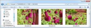 Изображение в Проводнике на Windows 7: 2 из 3 фотографий необходимо повернуть