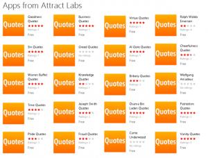 Самая спамерская команда Attract Labs имеет 200 одинаковых приложений на маркете
