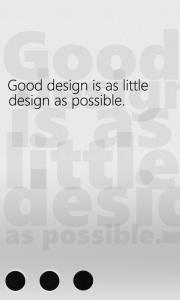 Хороший дизайн - это самый минимум дизайна