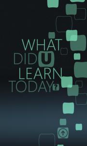Что ты сегодня узнал?